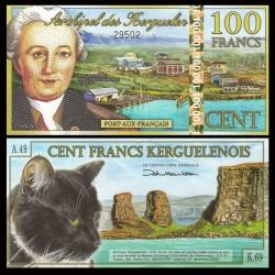 KERGUELEN - 100 Francs - YJ Kerguelen-Tremarec - 02.01.2012 - Chat - NEUF