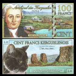 KERGUELEN - 100 Francs - YJ Kerguelen-Tremarec - 01.06.2012 - Chat - NEUF