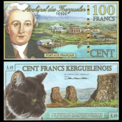 KERGUELEN - 100 Francs - YJ Kerguelen-Tremarec - 05.11.2010 - Chat - NEUF