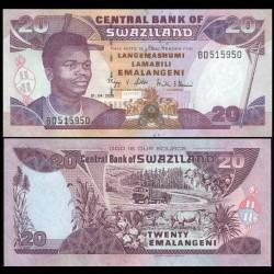 SWAZILAND - Billet de 20 Emalangeni - Roi Mswati III - 2006