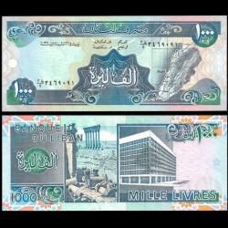 LIBAN - Billet de 1000 Livres - Carte du Liban - 1990