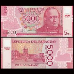 PARAGUAY - Billet de 5000 - Don Carlos Antonio López - Polymer - 2011 P234a