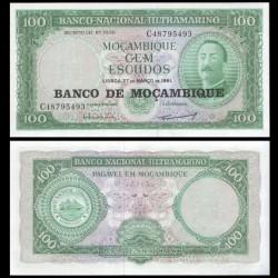 MOZAMBIQUE - Billet de 100 Escudos - 27.03.1961 (1976) P117a