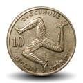 ILE DE MAN - PIECE de 10 Pence - Triskèle - 1992 Km#337