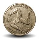 ILE DE MAN - PIECE de 10 Pence - Triskèle - 1992