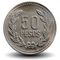 COLOMBIE - PIECE de 50 PESOS - 2010
