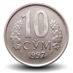OUZBEKISTAN - PIECE de 10 Som - 1997 Km#10