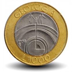 SAINT-MARIN - PIECE de 1000 Lires - La géologie - 1998 Km#384