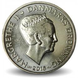 DANEMARK - PIECE de 20 Kroner - Margrethe II - 2016 Km#955