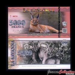 LA SAVANNA - Billet de Billet de 5000 Francs - 2015