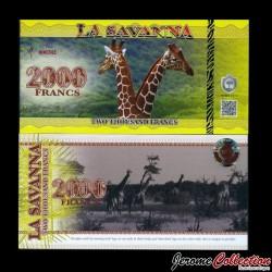 LA SAVANNA - Billet de Billet de 2000 Francs - 2015