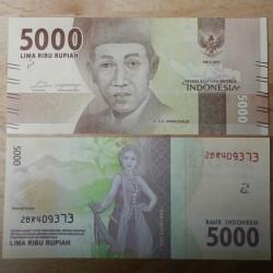 INDONESIE - Billet de 5000 Rupiah - Billets de remplacement - 2017