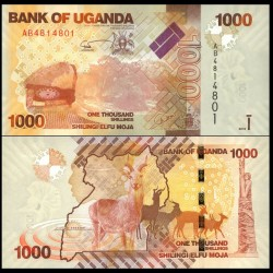 OUGANDA - Billet de 1000 Shillings / Shilingi - Antilopes - 2010