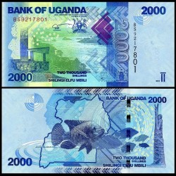 OUGANDA - Billet de 2000 Shillings / Shilingi - Poisson - 2017