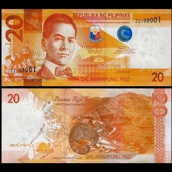 PHILIPPINES - Billet de 20 Piso - Civette - 2014B