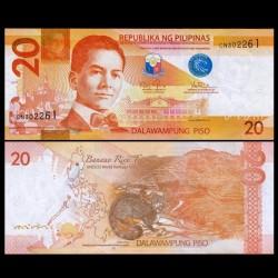 PHILIPPINES - Billet de 20 Piso - Civette - 2014