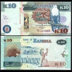 ZAMBIE - Billet de 10 Kwacha - Porc-épic - 2012