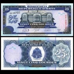 HAITI - Billet de 25 Gourdes - Palais de justice - 2015