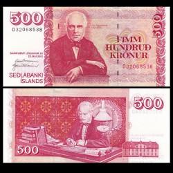ISLANDE - Billet de 500 Kronur - Jón Sigurðsson - 2001 P58a(2)