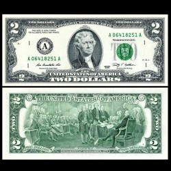 ETATS UNIS - Billet de 2 DOLLARS - 2009 - A(1) Boston