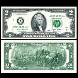 ETATS UNIS / USA - Billet de 2 DOLLARS - 2009 - A(1) Boston P530A - Fw