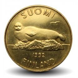 FINLANDE - PIECE de 5 Markkaa - Phoque annelé - 1992