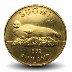 FINLANDE - PIECE de 5 Markkaa - Phoque annelé - 1992 Km#73