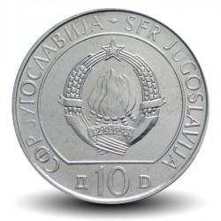 YOUGOSLAVIE - PIECE de 10 dinars - Bataille de Sutjeska - 1983