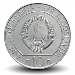 YOUGOSLAVIE - PIECE de 10 dinars - Bataille sur la rivière Neretva - 1983