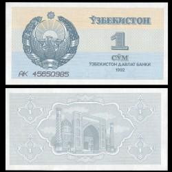 OUZBEKISTAN - Billet de 1 Som - Médersa - 1992