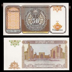 OUZBEKISTAN - Billet de 50 Som - 1994