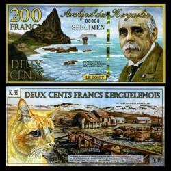 KERGUELEN - 200 Francs - René Baussière - 05.11.2010 - Chat - NEUF