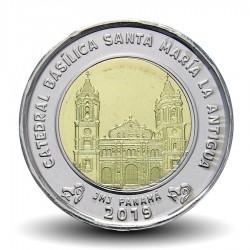 PANAMA - PIECE de 1 BALBOA - La cathédrale basilique Santa Maria la Antigua - 2019