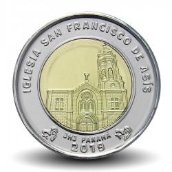 PANAMA - PIECE de 1 BALBOA - L'église de San Francisco de Asís - 2019