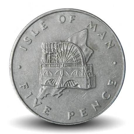 ILE DE MAN - PIECE de 25 Pence - la roue de laxey - 1976 Km#35