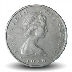 ILE DE MAN - PIECE de 25 Pence - la roue de laxey - 1976