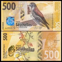 SEYCHELLES - Billet de 500 Roupies - Crécerelle des Seychelles - 2016