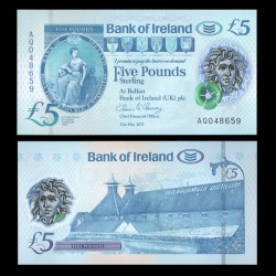 IRLANDE DU NORD - Bank of Ireland - 5 Pounds - Polymer - 2017 / 2019 P90a