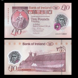 IRLANDE DU NORD - Bank of Ireland - 10 Pounds - Polymer - 2017 / 2019
