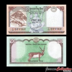 NEPAL - Billet de 10 Roupies - 2017 P77a