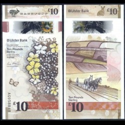 IRLANDE DU NORD - Ulster Bank Limited - 10 Pounds - Polymer - Agriculture - 2019 P344a