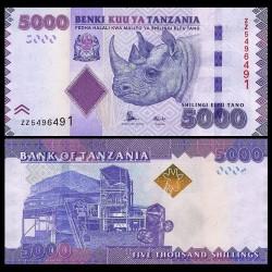 TANZANIE - Billet de 5000 Shillings - Billet de remplacement - 2015 P43bZ