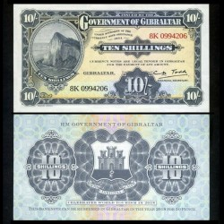 GIBRALTAR - Billet de 10 Shillings - Célébration du tourisme mondial - 2018