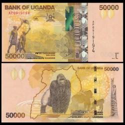 OUGANDA - Billet de 50000 Shillings - Gorille- 2015