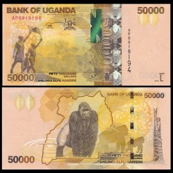 OUGANDA - Billet de 50000 Shillings - Gorille- 2015 P54c