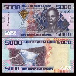 SIERRA LEONE - Billet de 5000 Leones - 04.08.2015