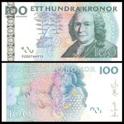 SUEDE - Billet de 100 Couronnes - Carl von Linné - 2006 P70a