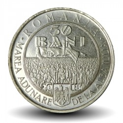 ROUMANIE - PIECE de 50 Bani - Union de la Transylvanie avec la Roumanie - 2018 Km#new