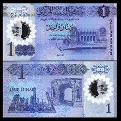 LIBYE - Billet de 1 Dinar - Anniversaire de la révolution de février - Polymer - 2019