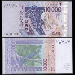 TOGO - Billet de 10000 Francs - Oiseau Touraco à gros bec - 2003 / 2017